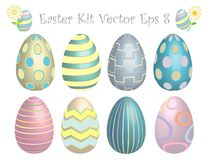 Easter Egg Kit! Vector eps8 / clip art Royalty Free Stock Photos