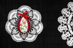 Easter egg on lace Royalty Free Stock Photo