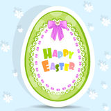Easter egg-laced postcard Stock Images