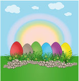 Easter egg landscape color Royalty Free Stock Photos