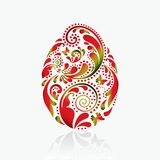 Easter egg from the leaf pattern. Stock Photography