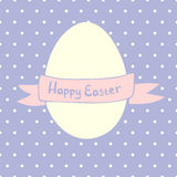Easter egg and lettering Royalty Free Stock Photo
