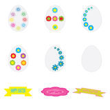 Easter egg and lettering on white background Royalty Free Stock Photos