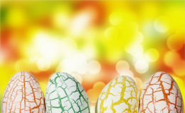 Easter Egg with light bokeh Royalty Free Stock Photo
