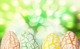 Easter Egg with light bokeh Royalty Free Stock Photography