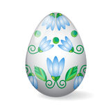 Easter Egg with lily decor Royalty Free Stock Photography