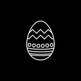 Easter egg line icon, religion holiday elements. Egg with lines, a linear pattern on a black background, eps 10 stock illustration