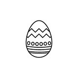 Easter egg line icon, religion holiday elements. Egg with lines, a linear pattern on a white background, eps 10 stock illustration