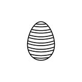 Easter egg line icon, religion holiday elements. Egg with lines, a linear pattern on a white background, eps 10 royalty free illustration
