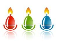 Easter egg logo. Vector set Royalty Free Stock Image
