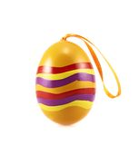 Easter egg with a loop ribbon Stock Images