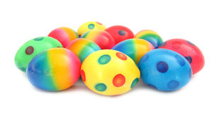 Easter egg lovely colorful painted with spots Stock Photos