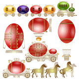 Easter egg luxury transport Stock Photography