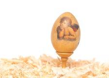 Easter egg made decoupage methods Stock Photo