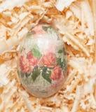 Easter egg made decoupage methods Royalty Free Stock Image