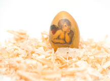 Easter egg made decoupage methods Stock Images