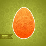 Easter egg made of flowers, floral Easter egg background. Happy Royalty Free Stock Photos