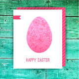 Easter egg made of flowers, floral Easter egg background. Happy Stock Images