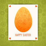 Easter egg made of flowers, floral Easter egg background. Happy Royalty Free Stock Photo