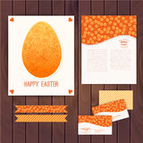 Easter egg made of flowers, floral Easter egg background. Happy Stock Photos