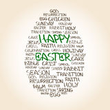 Easter egg made from handwritten words Royalty Free Stock Image