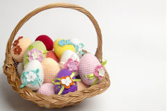 Easter egg made from yarn Stock Photo