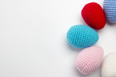 Easter egg made from yarn Stock Image