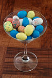 Easter egg martini Stock Image
