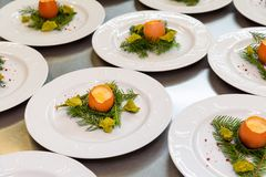 Easter egg meal restaurant kitchen Stock Images