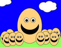 Easter Egg Men 10. A simple toon based image of some egg men, this image is suitable for images relating to Easter and food Royalty Free Stock Image