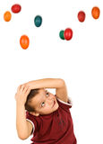 The easter egg menace Stock Images