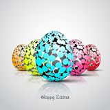Easter eggs. Colorful dot pattern, Vector Illustrator Royalty Free Stock Photos