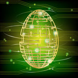 Circuit board egg green Royalty Free Stock Photos