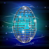 Circuit board egg Royalty Free Stock Image