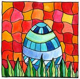 Easter egg mosaic Stock Image