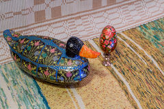Easter egg with mother duck Royalty Free Stock Photo