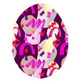 Easter egg with multi-colored spots stock illustration