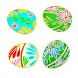 Easter egg multicolored floral pattern. Decorated Easter eggs set floral pattern pattern vector illustration Royalty Free Stock Photo