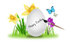 Easter egg with nature decoration Royalty Free Stock Images