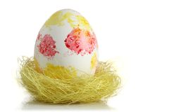 Easter egg in nest Stock Photo