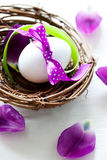 Easter egg in a nest Royalty Free Stock Image