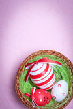 Easter Egg Nest Stock Photos