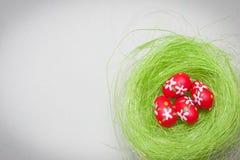 Easter Egg Nest Stock Photo