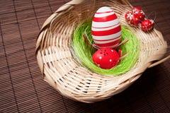 Easter Egg Nest Stock Photography