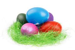 Easter egg nest Stock Photo