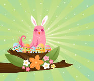 Easter Egg Nester stock illustration
