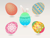 Easter egg object. Set of easter egg isolated for decoration royalty free illustration