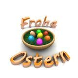 The Easter egg in the basket. Happy Easter Royalty Free Stock Photo