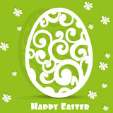 Easter egg openwork appliqués postcard Stock Image