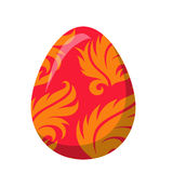 Easter Egg with Orange Leaves or Fire Flame Vector Stock Photography